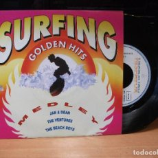 Discos de vinilo: VARIOS - SURFING SURFING GOLDEN HITS SINGLE SPAIN 1991 PDELUXE . Lote 80774958