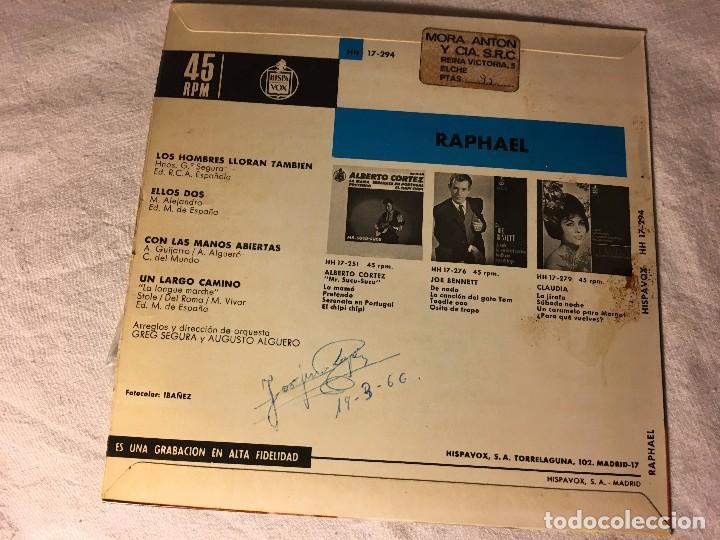 Discos de vinilo: DISCO SINGLE ORIGINAL VINILO EP RAPHAEL RAFAEL - Foto 2 - 80775470