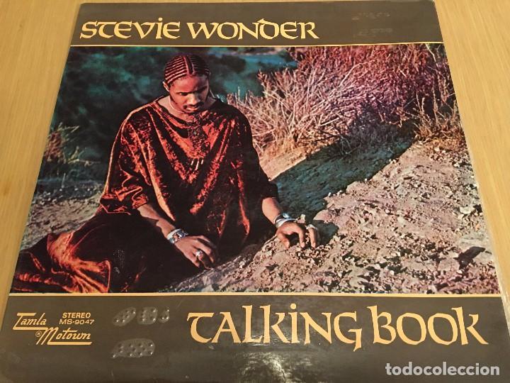 STEVIE WONDER - TALKING BOOK - LP VINYL SPAIN ORIGINAL 1972-1973 MS -9047 - CARPETA ABIERTA. BRAILLE (Música - Discos - LP Vinilo - Funk, Soul y Black Music)