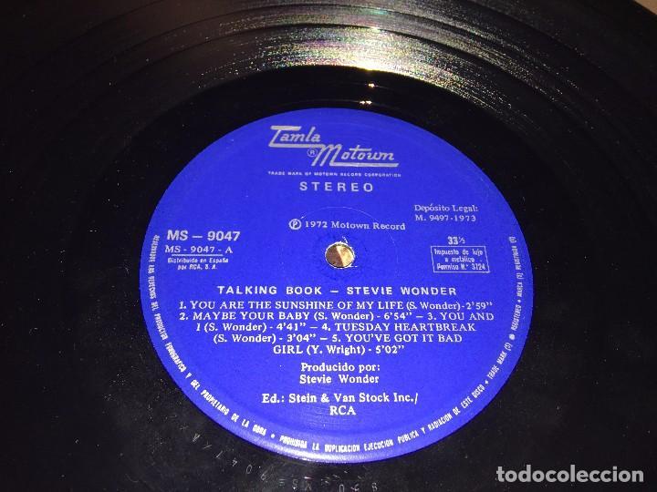 Discos de vinilo: STEVIE WONDER - TALKING BOOK - LP VINYL SPAIN ORIGINAL 1972-1973 MS -9047 - CARPETA ABIERTA. BRAILLE - Foto 4 - 80785782