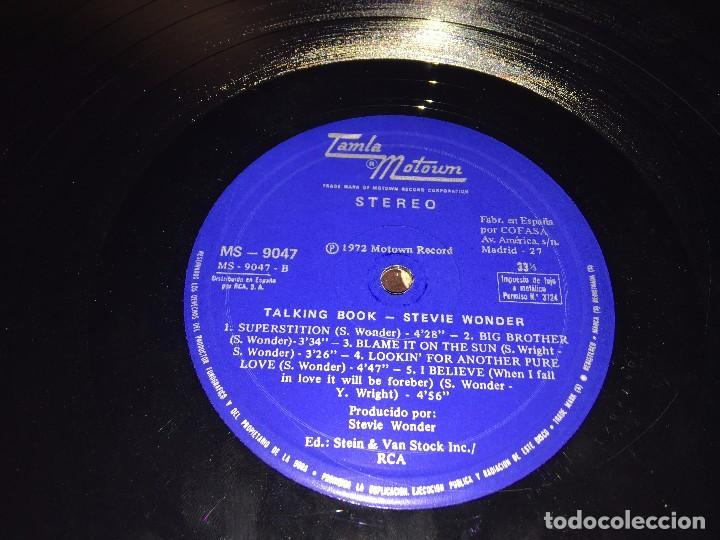 Discos de vinilo: STEVIE WONDER - TALKING BOOK - LP VINYL SPAIN ORIGINAL 1972-1973 MS -9047 - CARPETA ABIERTA. BRAILLE - Foto 5 - 80785782