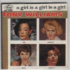 Discos de vinilo: TONY WILLIAMS / AMAPOLA / RAMONA / MONA LISA / PEG O'MY HEART (EP 1959). Lote 80794547