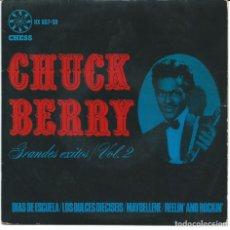 Discos de vinilo: CHUCK BERRY - SCHOOL DAYS + 3 (EP DE 4 CANCIONES) HISPAVOX 1965 - VG+/VG+. Lote 80801579
