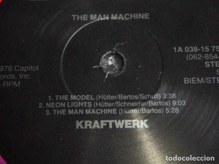 Discos de vinilo: KRAFTWERK ( THE MAN MACHINE ) 1978-HOLANDA LP33 CAPITOL RECORDS - Foto 3 - 80811327