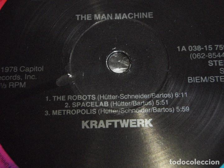 Discos de vinilo: KRAFTWERK ( THE MAN MACHINE ) 1978-HOLANDA LP33 CAPITOL RECORDS - Foto 4 - 80811327