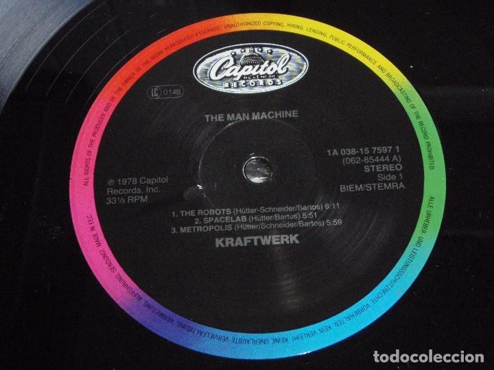 Discos de vinilo: KRAFTWERK ( THE MAN MACHINE ) 1978-HOLANDA LP33 CAPITOL RECORDS - Foto 5 - 80811327