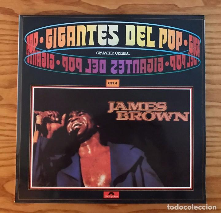 JAMES BROWN GIGANTES DEL POP VINILO VOL 4 LP DISCO NUEVO (Música - Discos de Vinilo - EPs - Funk, Soul y Black Music)