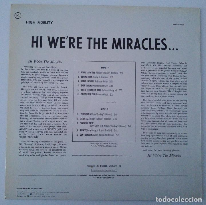 Discos de vinilo: the miracles..Hi were the miracles.(motown 1985).spain - Foto 2 - 80817775
