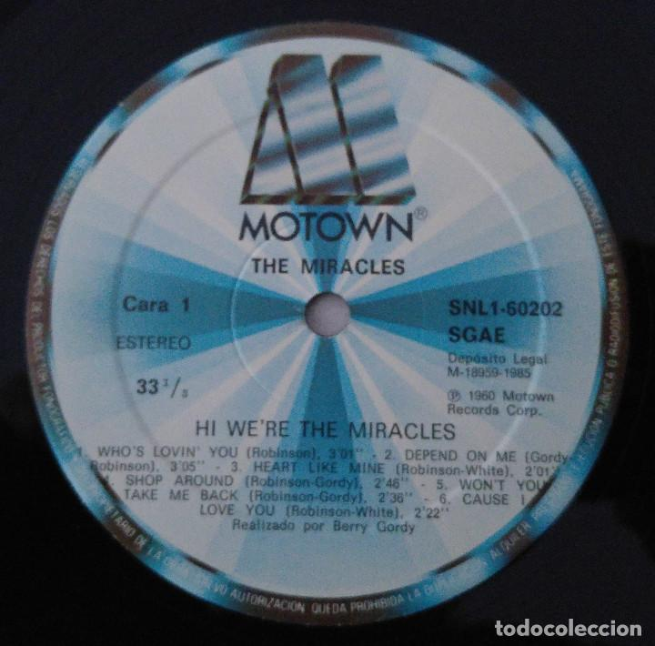 Discos de vinilo: the miracles..Hi were the miracles.(motown 1985).spain - Foto 4 - 80817775
