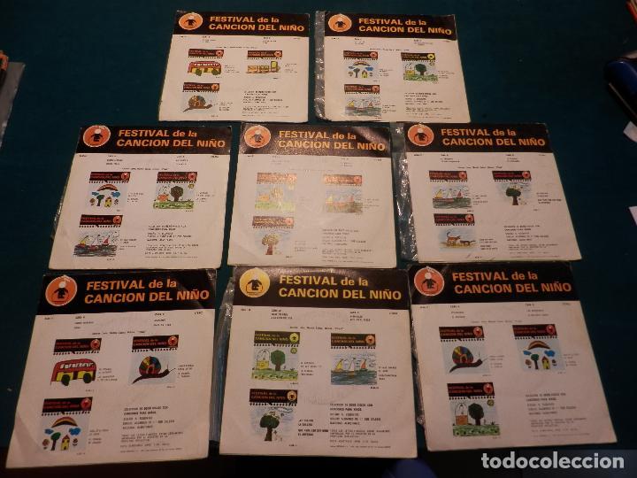 Discos de vinilo: FESTIVAL DE LA CANCIÓN DEL NIÑO - LOTE DE 8 E.P. CON 4 TEMAS - ALMOTAMID 1979 - Foto 2 - 80841519