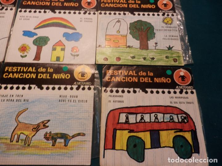 Discos de vinilo: FESTIVAL DE LA CANCIÓN DEL NIÑO - LOTE DE 8 E.P. CON 4 TEMAS - ALMOTAMID 1979 - Foto 4 - 80841519