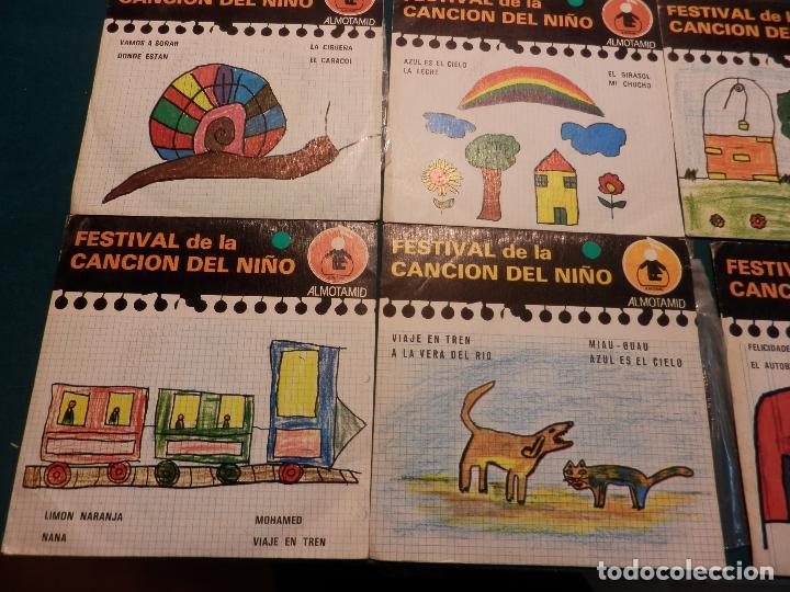 Discos de vinilo: FESTIVAL DE LA CANCIÓN DEL NIÑO - LOTE DE 8 E.P. CON 4 TEMAS - ALMOTAMID 1979 - Foto 5 - 80841519