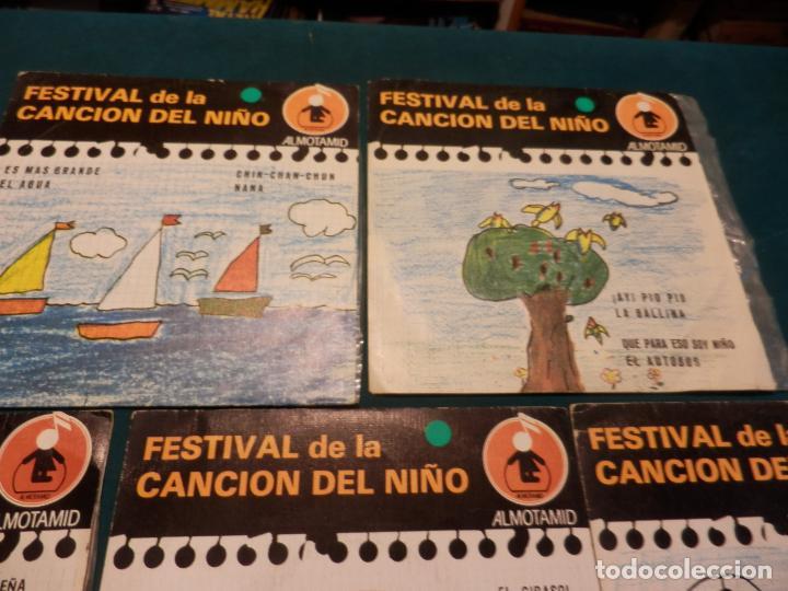Discos de vinilo: FESTIVAL DE LA CANCIÓN DEL NIÑO - LOTE DE 8 E.P. CON 4 TEMAS - ALMOTAMID 1979 - Foto 6 - 80841519
