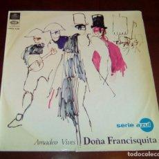 Discos de vinilo: AMADEO VIVES - DOÑA FRANCISQUITA - LP - 1967. Lote 80844815