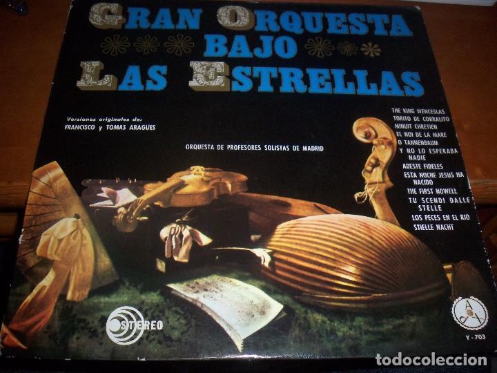 LP DE ORQUESTA DE PROFESORES SOLISTAS DE MADRID. GRAN ORQUESTA BAJO LAS ESTRELLAS. EDICION PAX 1964. (Música - Discos - LP Vinilo - Orquestas)