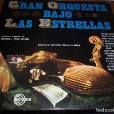 Discos de vinilo: LP DE ORQUESTA DE PROFESORES SOLISTAS DE MADRID. GRAN ORQUESTA BAJO LAS ESTRELLAS. EDICION PAX 1964.. Lote 80878543