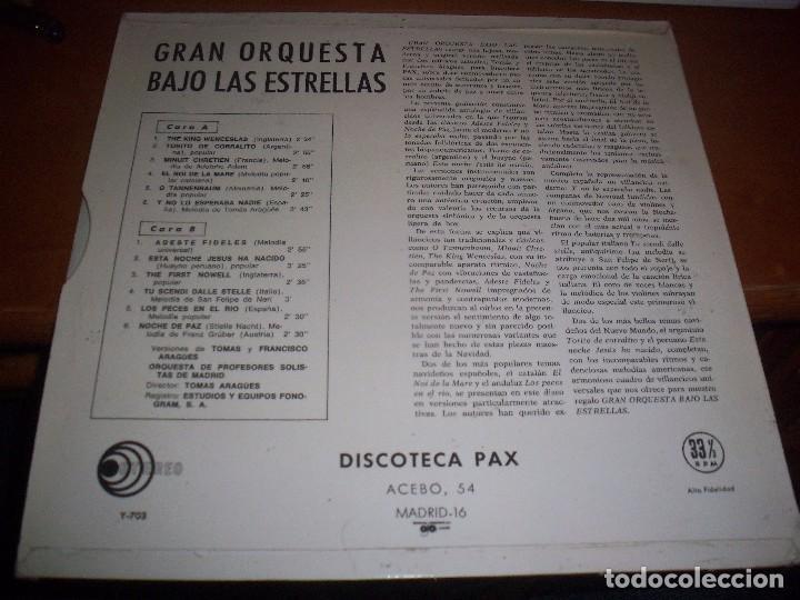 Discos de vinilo: Lp de Orquesta de profesores solistas de Madrid. Gran orquesta bajo las estrellas. Edicion PAX 1964. - Foto 2 - 80878543
