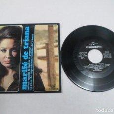 Discos de vinilo: EP MARIFÉ DE TRIANA. SOLEÁ - QUIÉN LO HABÍA DE PENSAR- LA ROSA DE CAPUCHINOS- TIENTOS DEL VIENTO. Lote 80909184