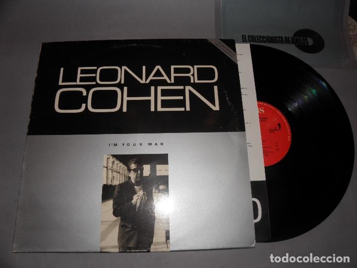 I'M YOUR MAN - LEONARD COHEN - CBS MADRID -INCLUYE TEXTOS LETRAS EN INGLES Y ESPAÑOL - 1988 - LP (Música - Discos - LP Vinilo - Cantautores Extranjeros)