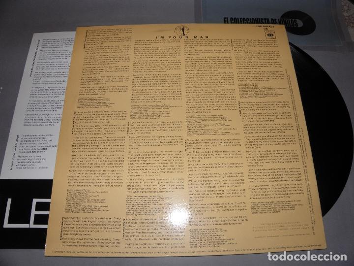 Discos de vinilo: I'M YOUR MAN - LEONARD COHEN - CBS MADRID -INCLUYE TEXTOS LETRAS EN INGLES Y ESPAÑOL - 1988 - LP - Foto 2 - 80939288