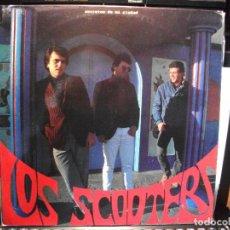 Discos de vinilo: LOS SCOOTERS SECRETOS DE MI CIUDAD LP SPAIN 1988 PDELUXE . Lote 80943668