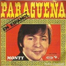 Discos de vinilo: MONTY (EN ESPAÑOL) SINGLE. SELLO BARCLAY. EDITADO EN ESPAÑA. AÑO 1970. Lote 80948056