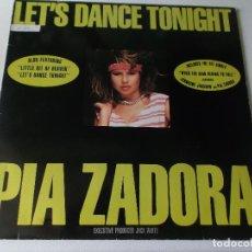 Discos de vinilo: PIA ZADORA - LET,S DANCE TONIGHT- 1984 CURB RECORDS. Lote 80961032