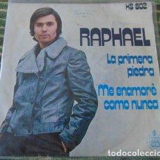 Discos de vinilo: RAPHAEL - LA PRIMERA PIEDRA - SINGLE. Lote 80961208