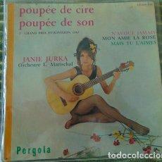 Discos de vinilo: JANIE JURKA – POUPÉE DE CIRE, POUPÉE DE SON + 3 - EP. Lote 80961596