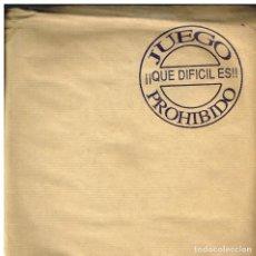 Disques de vinyle: JUEGO PROHIBIDO - QUE DIFICIL ES - SINGLE 1992. Lote 80985020