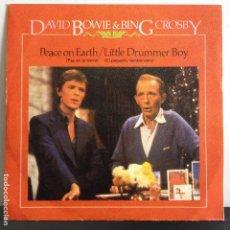Discos de vinilo: DAVID BOWIE & BING CROSBY - PEACE ON EARTH - NUEVO PROMO ESPAÑOL. Lote 80989608