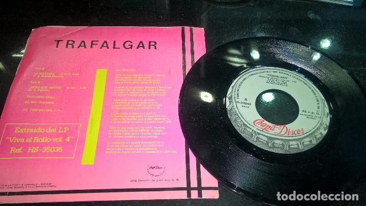 Discos de vinilo: musica single rock trafalgar la maquina - buen estado dificil error impresion - Foto 2 - 80999280
