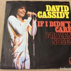Discos de vinilo: DAVID CASSIDY. IF I DIDN'T CARE / FROZEN NOSES. BELL 1974 ED. UK. Lote 80999808