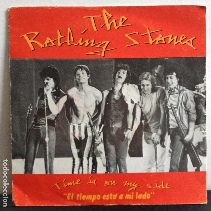 THE ROLLING STONES - TIME IS ON MY SIDE - NUEVO PROMO ESPAÑOL (Música - Discos de Vinilo - Singles - Pop - Rock Extranjero de los 80)