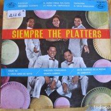 Discos de vinilo: LP - THE PLATTERS - SIEMPRE THE PLATTERS (SPAIN, MERCURY RECORDS 1962). Lote 81012412