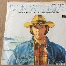 Discos de vinilo: DON WILLIAMS. I BELIEVE IN YOU. MCA RECORDS 1980. Lote 81017184