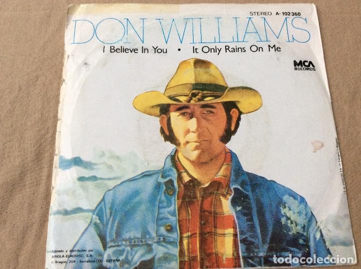 Discos de vinilo: DON WILLIAMS. I BELIEVE IN YOU. MCA RECORDS 1980 - Foto 2 - 81017184
