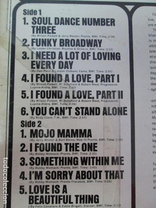 Discos de vinilo: THE SOUND OF WILSON PICKETT. DISCO VINILO. ATLANTIC 1967. VER FOTOGRAFIASADJUNTAS - Foto 5 - 81036560