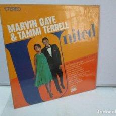 Discos de vinilo: MARVIN GAYE & TAMMI TERRELL. UNITED. DISCO DE VINILO. MOTOWN RECORDS 1967. VER FOTOGRAFIAS ADJUNTAS. Lote 81039888