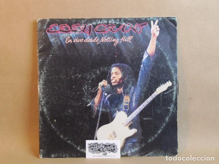 EDDY GRANT- EN VIVO DESDE NOTTING HILL-DOBLE LP-SPAIN 1982- GOOD/GOOD (Música - Discos - LP Vinilo - Reggae - Ska)
