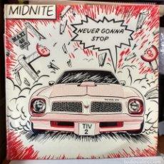 Discos de vinilo: MIDNITE - NEVER GONNA STOP - 1983. Lote 81041400