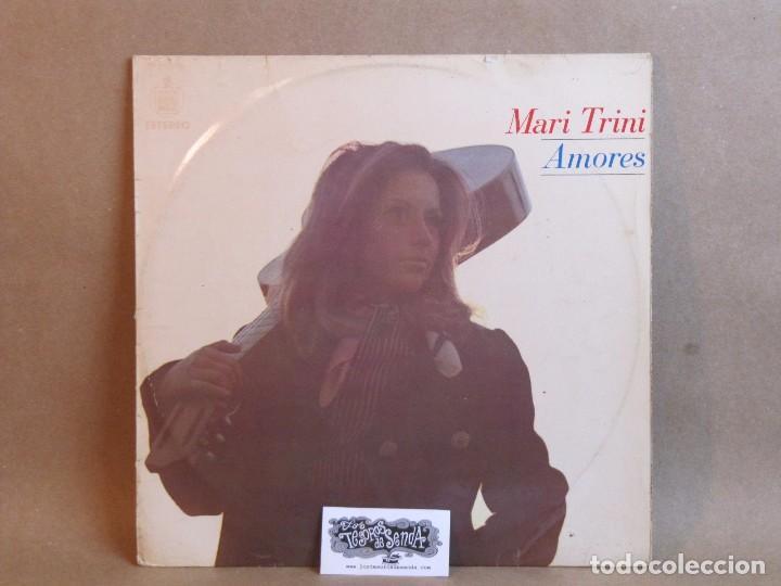 MARI TRINI- AMORES- LP- SPAIN 1970- GOOD/VG (Música - Discos - LP Vinilo - Solistas Españoles de los 70 a la actualidad)