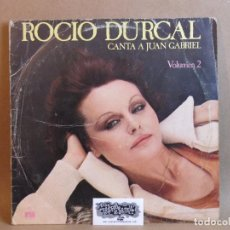 Discos de vinilo: ROCIO DURCAL-CANTA A JUAN GABRIEL VOLUMEN 2- LP- SPAIN 1978-NORMAL/GOOD. Lote 81044688