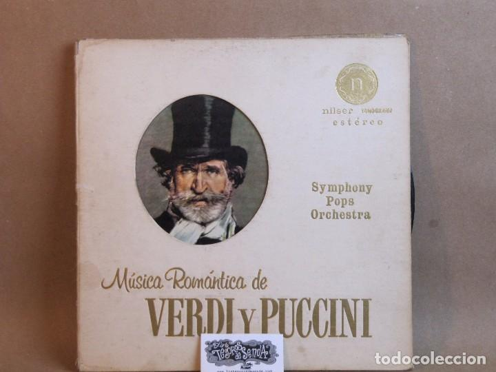 SYMPHONY POPS ORCHESTRA-MUSICA ROMANTICA DE VERDI Y PUCCINI- SELLO NILSER- NLP 716. MUY DIFICIL (Música - Discos - LP Vinilo - Clásica, Ópera, Zarzuela y Marchas)