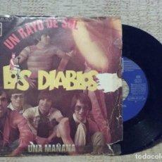 Discos de vinilo: LOS DIABLOS UN RAYO DE SOL SINGLE . Lote 81066168