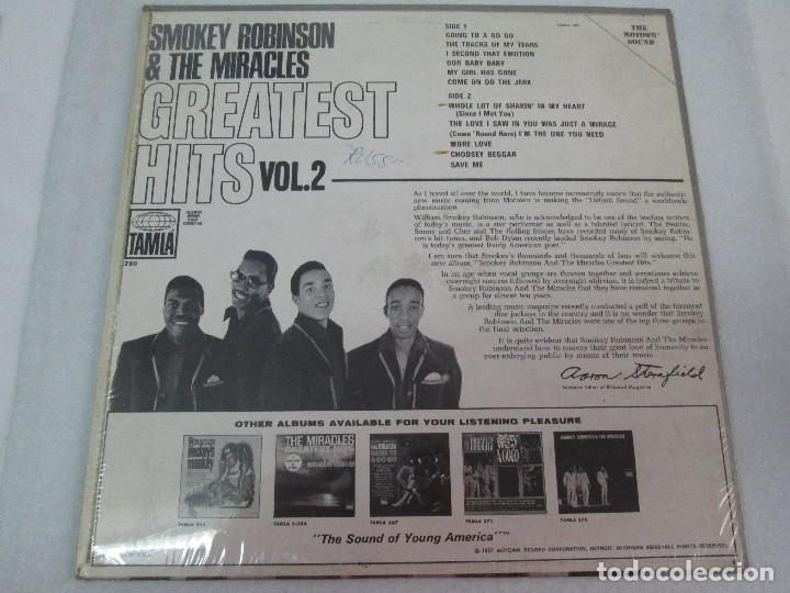 Discos de vinilo: SMOKEY ROBINSON & THE MIRACLES. GREATEST HITS VOL 2. DISCO DE VINILO. TAMLA 1967. VER FOTOGRAFIAS - Foto 6 - 81109972
