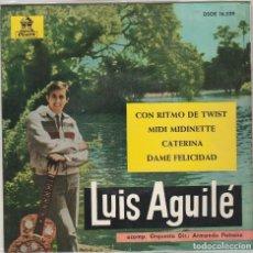 Discos de vinilo: LUIS AGUILE / CON RITMO DE TWIST + 3 (EP 1963). Lote 81115284