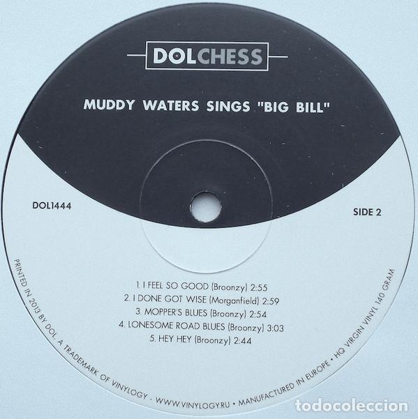 Discos de vinilo: Muddy Waters * LP HQ Virgin Vinyl 140g * Muddy Waters Sings Big Bill * Precintado - Foto 3 - 169679662
