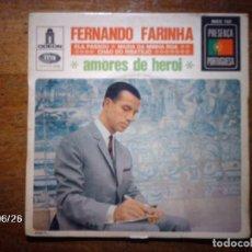 Discos de vinilo: FERNANDO FARINHA - AMORES DE HEROI + ELA PASSOU + MIUDA DA MINHA RUA + CHAO DO RIBATEJO . Lote 81157560