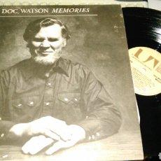 Discos de vinilo: DOC WATSON DOBLE LP MEMORIES U.S.A. 1975.CARPETA DOBLE. Lote 81192355